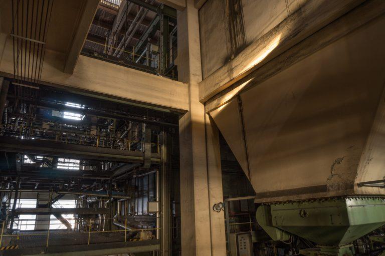 light in industrial interior